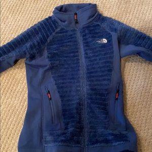 a north face zip up sweatshirt